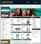 Screenshot van de Skinners.nl website